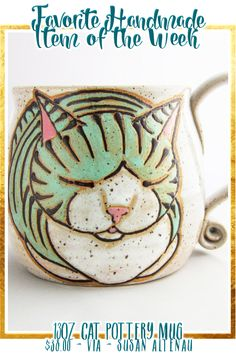 I love this handmade Cat Mug from Susan Altenau Photography!