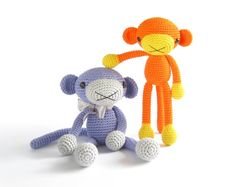 CROCHET PATTERN  Monkey  Amigurumi stuffed animal   by SIDRUNsZoo, €4.50