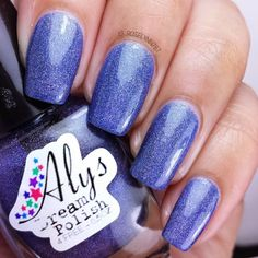 Duchess Blue by Aly's Dream Polish part of the Holographic Euphoria Collection. Available for purchase at http://alysdreampolish.storenvy.com/  #nail #nails #nailpolish #indie #polish #swatch #polishswatch