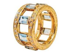 Absolutely beautiful aqua ring by Kate Hudson and Chrome Hearts (CH + KH)