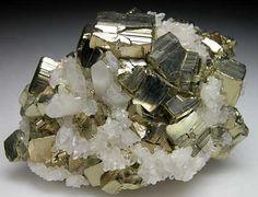 Pyrite with Quartz from Morococha Mine, Peru (Marin Mineral Company)