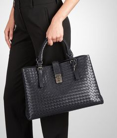 Bottega Veneta® - MORO INTRECCIATO CALF MEDIUM ROMA BAG ‎ b7384bb5c460c