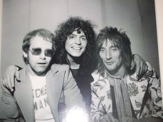 Elton John, Marc Bolan And Rod Stewart