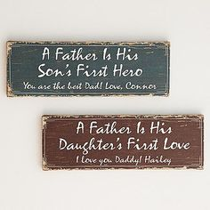 Sentimental plaque is a sweet Father's Day gift for any Dad!