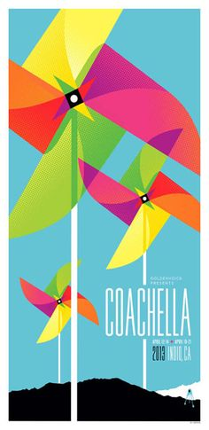 Coachella 2013 gig poster by Kii Arens
