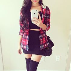Flannel with Black