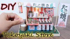 DIY Miniature Dollhouse Kit    Takoyaki! Japanese Street Food ( With Lig...