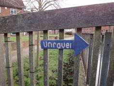 Knitted Sign at UNRAVEL at Farnham, A Festival of Knitting