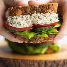 Tuna Sandwich Recipes, Homemade Sandwich, Salad Sandwich, Tuna Salad, Fish Recipes, Seafood Recipes, Appetizer Recipes, Beef Recipes, Cooking Recipes
