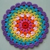 Crochet Mandala Wheel made by  Angie, Cambridgeshire, UK for  yarndale.co.uk