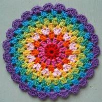 Crochet Mandala Wheel made by  Angie, Cambridgeshire, UK for  yarndale.co.uk