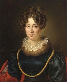 Alexandre-Jean Dubois-Drahonet (1791-1834) — Portrait of Mrs. Johanna Barbara Archer-Rendorp,
