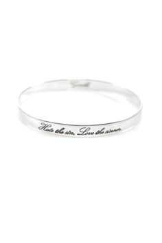 "Gandhi Inspiration Bangle ""Hate the sin, love the sinner"""