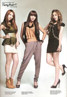 Brown eyed girls jea, narsha and miryo kpop womens fashion Korean Fashion Summer Casual, Korean Fashion Street Casual, Korean Fashion Kpop, Winter Fashion Outfits, Brown Eyed Girls, Fashion Lookbook, Girl Costumes, Kpop Girls, Editorial Fashion