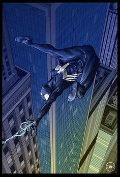 Black Suit Spider-Man By: Rodrigo Zayas…