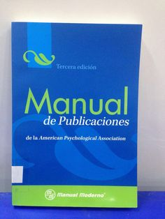 070.572 / M294 Manual de publicaciones de la American Psychological Association