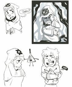 blinded au scenario where dipper gets scared out of his wits and is forced into hiding and clutches onto bill for comfort and security