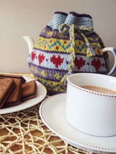 Hearts Fairisle Tea Cosy