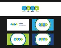 5x5y logo and business card by killer_meowmeow