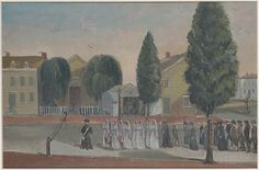 William P. Chappel (American, 1800?–1880). Infant Funeral Procession, 1870s. The Metropolitan Museum of Art, New York. The Edward W. C. Arnold Collection of New York Prints, Maps, and Pictures, Bequest of Edward W. C. Arnold, 1954 (54.90.502) #Halloween
