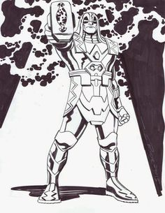 Steve Rude commissions: Iron Fist, Gwen Stacy, Ronan the Accuser!