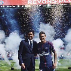 "381.3k Likes, 1,093 Comments - Paris Saint-Germain (@psg) on Instagram: ""President Nasser Al-Khelaïfi & #NeymarJr 📷 #BemvindoNeymarJr 🇧🇷 #PSG #Football #Paris"""