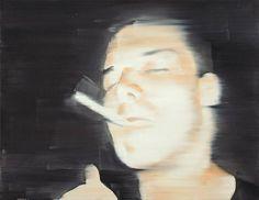 Rafal Bujnowski (Polish, b. 1974), O.T. (Raucher), 2004. Oil on canvas, 48 x 62 cm.