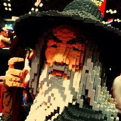 Amazing Lego Gandolf @ #nycc #nycomiccon by CocteauBoy, via Flickr