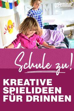 Schulen und Kitas sind zu, jetzt sind Ideen gefragt, um Kinder sinnvoll zuhause zu beschäftigen. Hier kommen kreative Spielideen für drinnen Beach Mat, Outdoor Blanket, Calm, Indoor, Kids, Blog, Ursula, Resume, Crowns