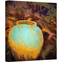 Dean Uhlinger Vessel Of Honor Gallery-Wrapped Canvas, Size: 24 x 24, Blue