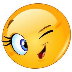 Illustration about Design of a female emoticon winking. Illustration of eyelashes, character, emoji - 41014844