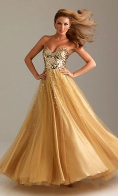 gold prom dress - highly practical