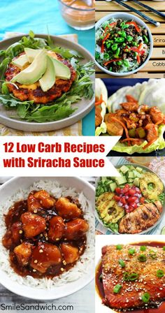 12 Low Carb Recipes with Sriracha Sauce