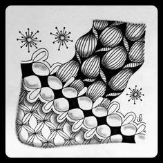 Zentangle Zoo: Saturday tile