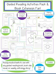 Inspired Elementary: Guided Reading Activities Pack Freebie!