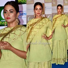 Beauty at an party and app launch hosted by Punjabi Dress, Pakistani Dresses, Indian Dresses, Indian Outfits, Designer Punjabi Suits, Indian Designer Wear, Ethnic Fashion, Indian Fashion, Ethnic Trends