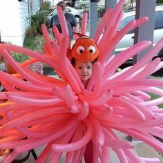 Findet Nemo Seeanemone Kostüm selber machen