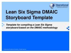 Lean Six Sigma Storyboard Template