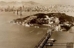 my mom was born there in 1932 A photograph taken in November 1935 showing the Bay Bridge construction.