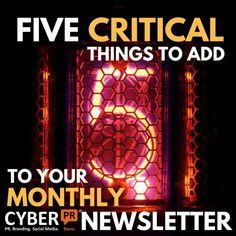 5 Critical Things To Add To Your Monthly Newsletter - A musicians guide by Ariel Hyatt of Cyber PR
