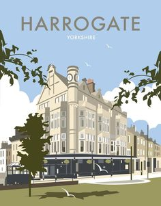 size: Giclee Print: Harrogate - Dave Thompson Contemporary Travel Print by Dave Thompson : This exceptional art print was made using a sophisticated giclée printing process, which deliver pure, rich color and remarkable detail. Portsmouth, Vintage Travel Posters, Poster Vintage, Tourism Poster, Railway Posters, The Great Outdoors, Giclee Print, Travel Photography, Yorkshire