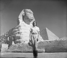 1924 Aloha's favorite place, the Sphinx and the Great Pyramids. A magical place for a magical woman. . www.alohawanderwell.com
