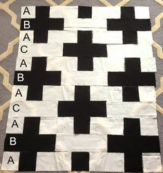 The Easiest Quilt in the World.  FREE Step by Step instrucion how to make a plus quilt.