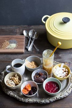 All the best toppings for an oatmeal bar party