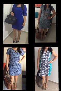 blue dresses and blue prints!! I love it!!