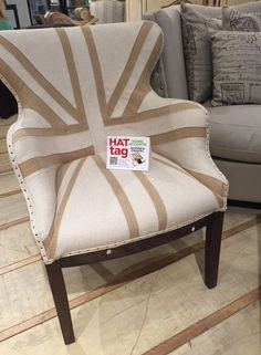 Delightful deconstructed Union Jack chair, @europe2you #DialmaBrown #HATtag #ATLmkt MM 10-A-10
