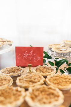 Add rustic elegance to your wedding favors table with velvet printed signage, customized with your personalized message. Wedding Favor Table, Wedding Favors, Rustic Elegance, Rustic Chic, Autumn Bride, Fall Wedding Flowers, Mini Pies, Wedding Rustic, Wedding Desserts