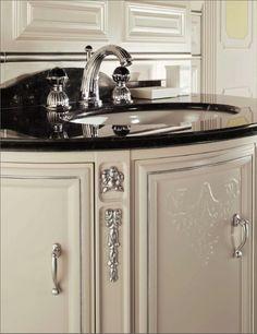 Bronces Mestre Artica classic wash basin mixer with swarovski crystal