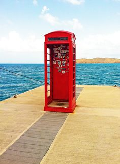 I'm just in love with this picture! #red shower in British Virgin Islands