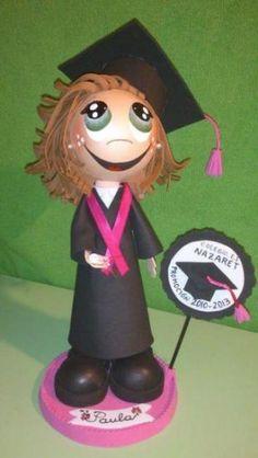 Muñeca Fofucha Graduada personalizada